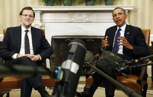 El desempleo afea el triunfal paso de Rajoy por la Casa Blanca