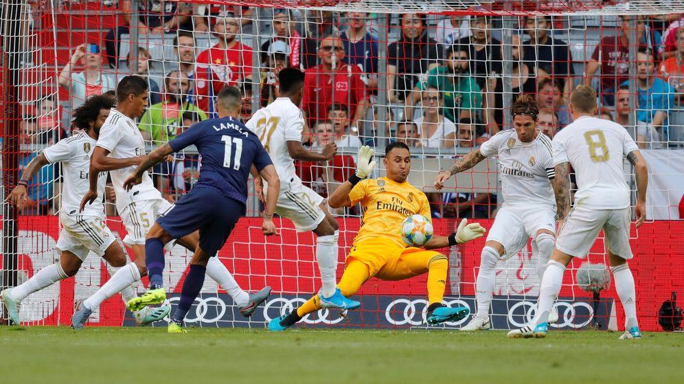 Foto: Keylor Navas fue el mejor en la derrota del Real Madrid ante el Tottenham en Múnich. (EFE)