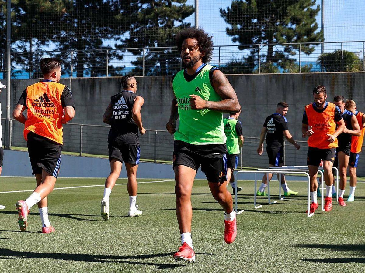 Foto: Marcelo se presenta a su primer entrenamiento de la temporada. (Real Madrid)