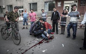 ¿Quién mató a civiles durante el referéndum? Desde luego, no soldados ucranianos