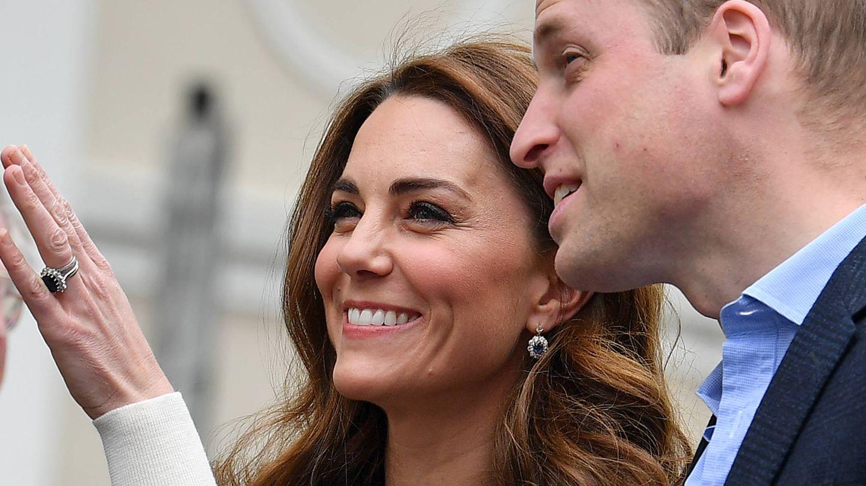 Kate Middleton y el príncipe William. (Getty)