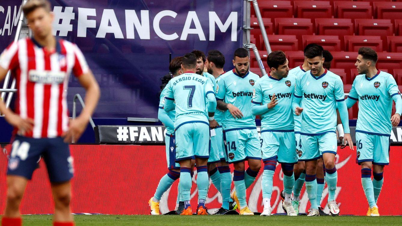 El Atleti se atasca y aprieta LaLiga: segundo pinchazo consecutivo frente al Levante (0-2)