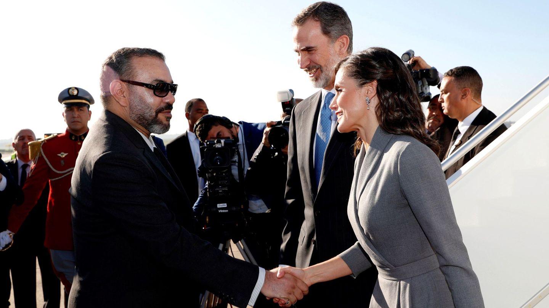 Los Reyes, recibidos por Mohamed en 2019. (EFE)
