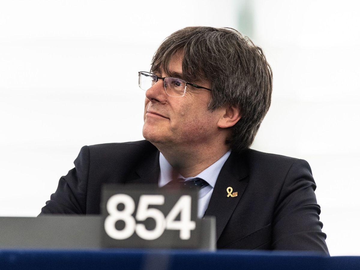 Foto: El expresidente catalán Carles Puigdemont, en el Parlamento Europeo. (EFE)