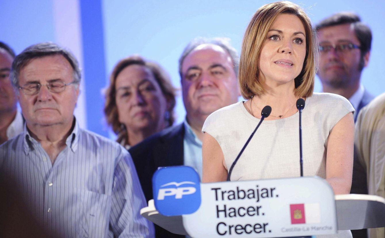 La presidenta en funciones de Castilla la Mancha, María Dolores de Cospedal. (EFE)