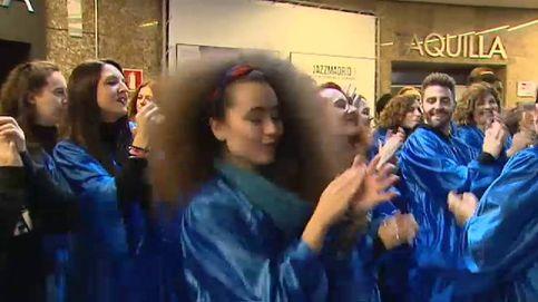 Góspel contra la lluvia en el centro de Madrid