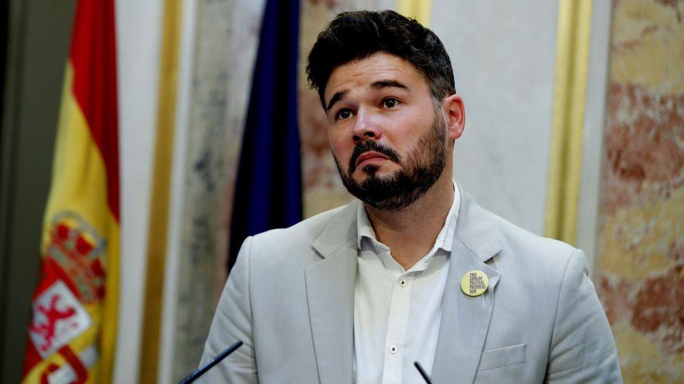 Foto: El portavoz de ERC, Gabriel Rufián. (EFE)