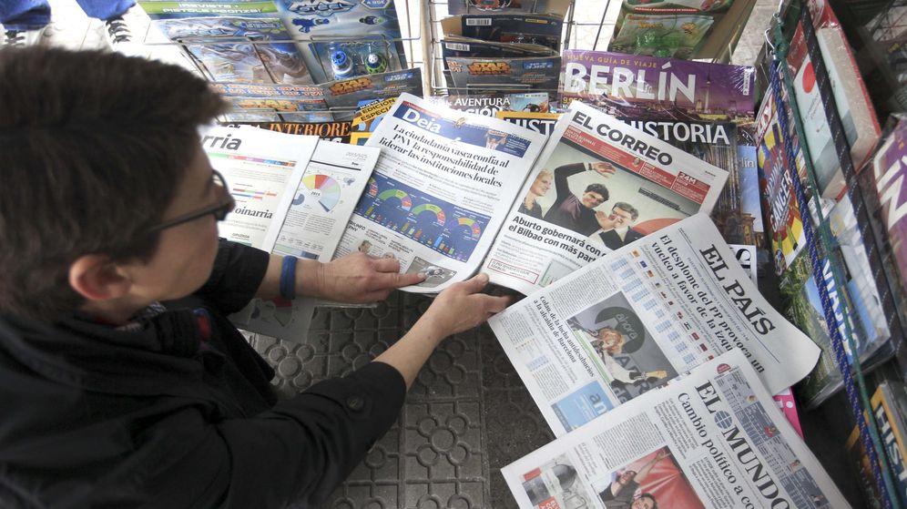 Foto: Los periódicos de papel se resienten con la convocatoria electoral. (EFE)