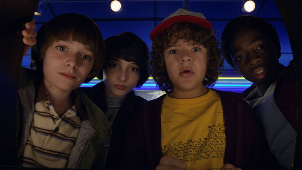 Foto: Los jóvenes protagonistas de 'Stranger things'. (Netflix)