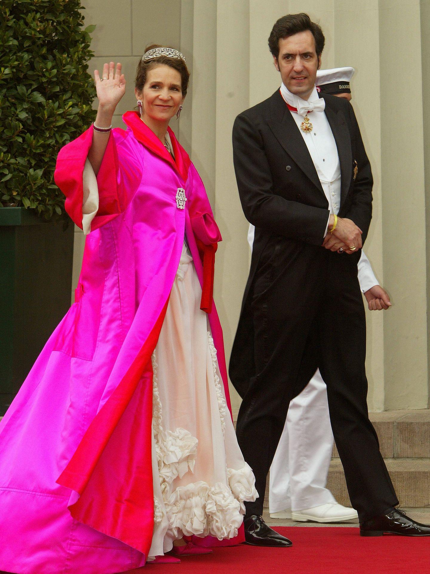 La infanta Elena y Jaime de Marichalar en la boda del príncipe Federico y Mary de Dinamarca. (Getty)