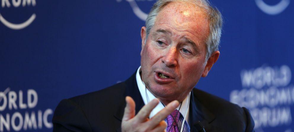 Foto: El presidente, CEO y cofundador de Blackstone Group, Stephen A. Schwarzman. (Reuters)