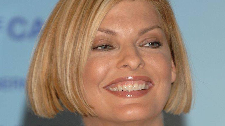 Linda Evangelista en el lanzamiento de Excel Teraphy O2 de Germaine de Capuccini. (Getty)