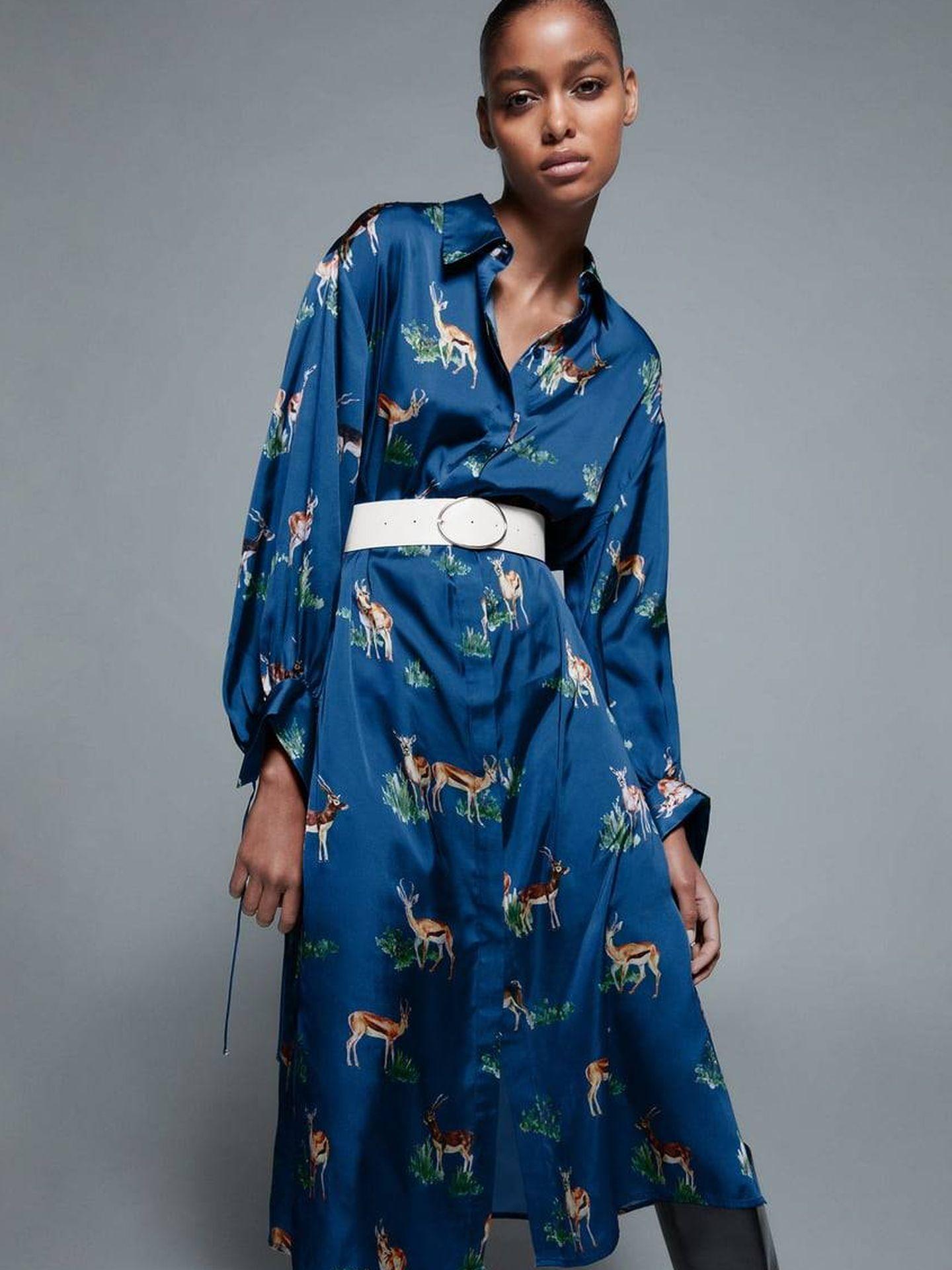 Vestido de rebajas de Zara. (Cortesía)