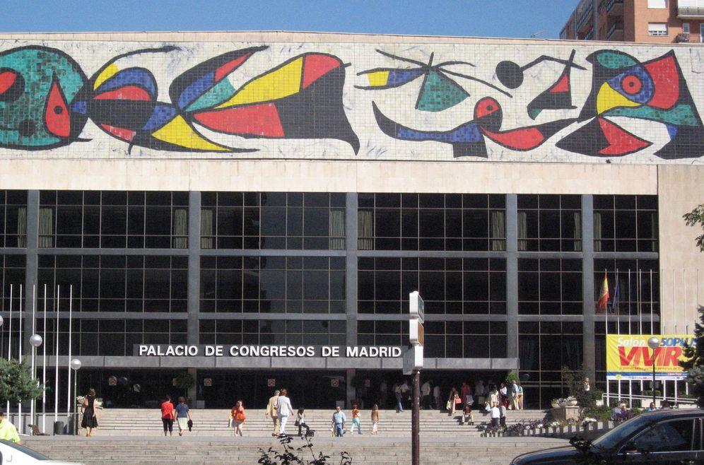Foto: La fachada principal del Palacio de Congresos de la Castellana.