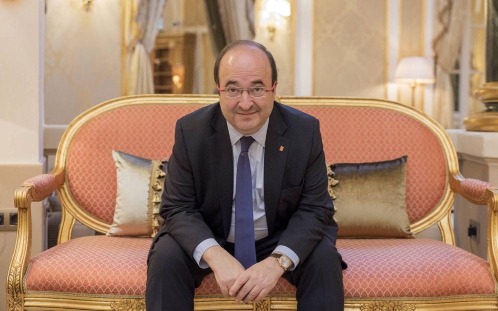 Foto: Miquel Iceta, este 4 de diciembre en el hotel El Palace de Barcelona. (Laura Gómez)