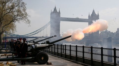 Ejercicios de artillería en Londres