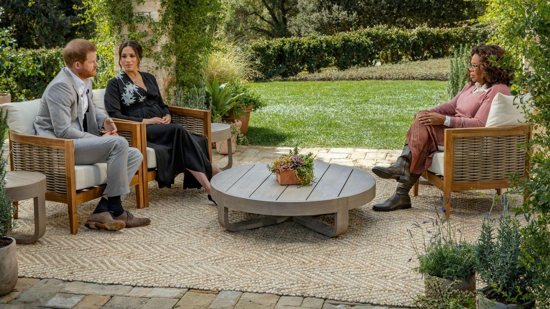 Los Sussex durante una entrevista concedida a Oprah Winfrey. (Reuters)