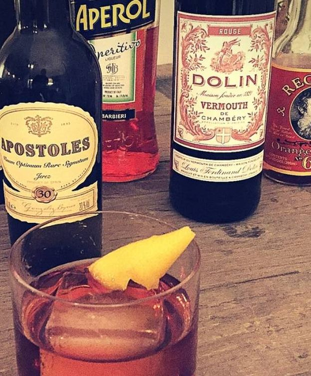 Foto: Somerville Boticayo nº1, creación de Richard Lorant con Palo Cortado, vermú, aperol y Dash Regan Orange Bitter (Foto: Sherry Wines)