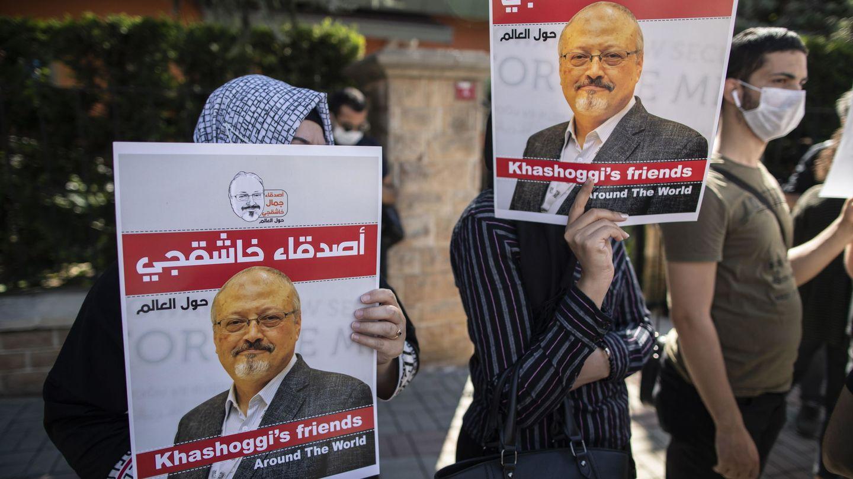 Protesta por la muerte de Jamal Khashoggi. (Reuters)