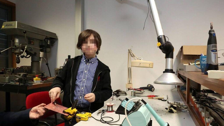 Laurent Simons, durante su breve periodo en la Universidad Tecnológica de Eindhoven. (Reuters)