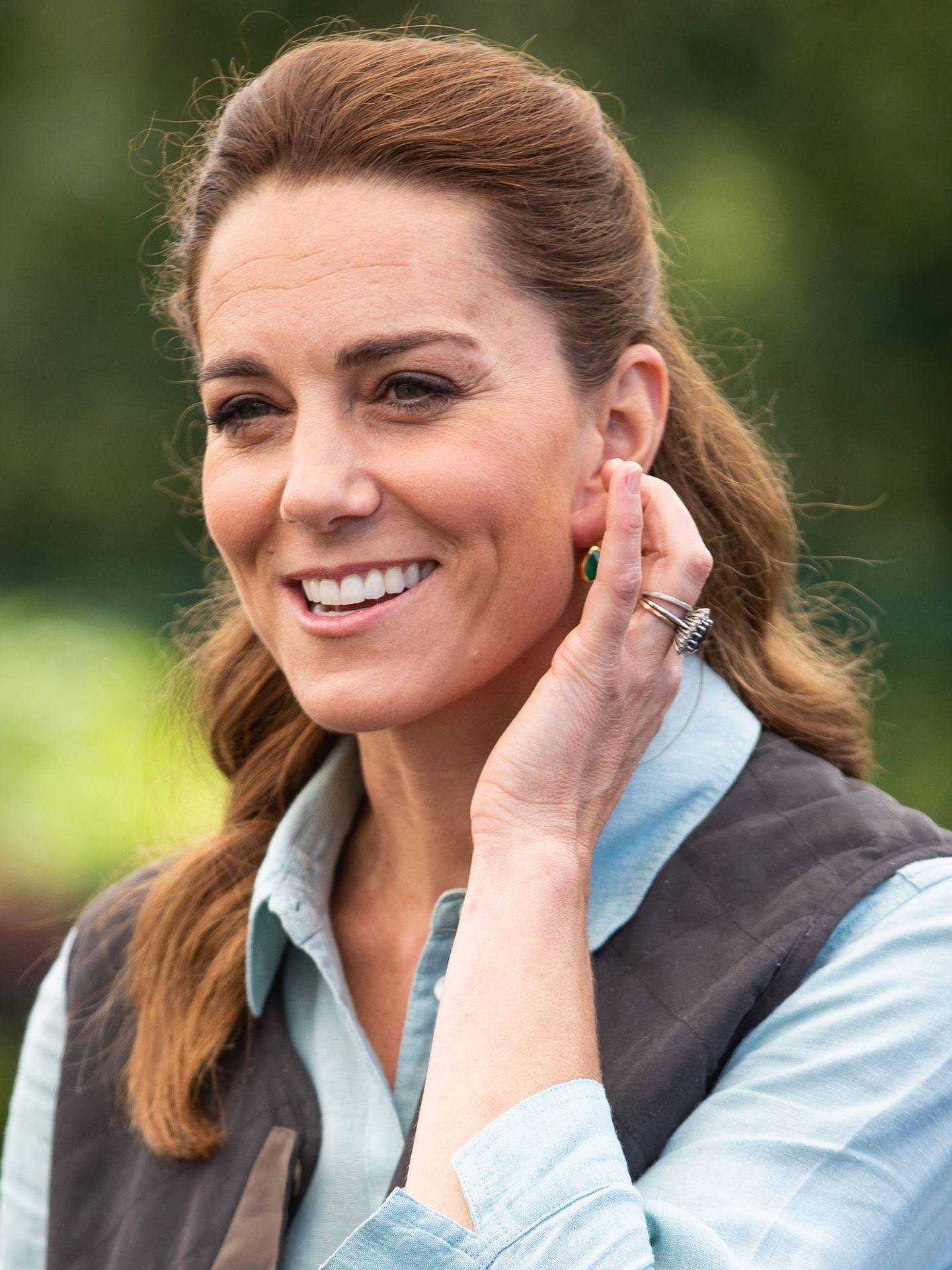 Kate Middleton y su nuevo look, una melena ligeramente rojiza. (Getty)