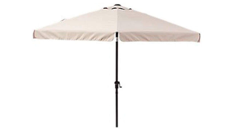 Parasol hexagonal de aluminio / acero NATERIAL Avea beige 296x296 cm