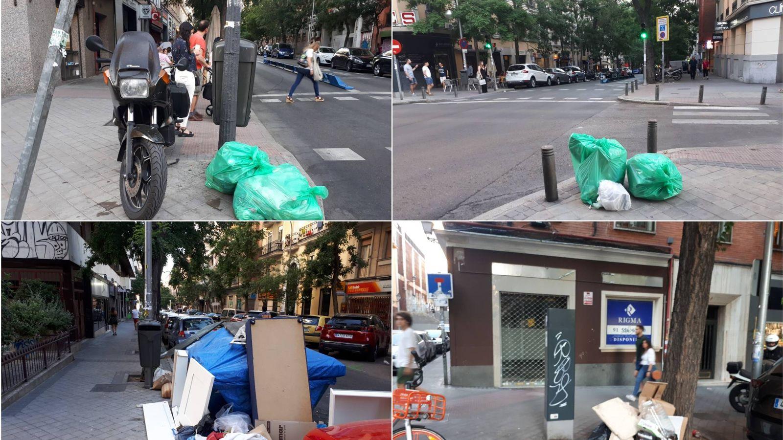 Foto: Basura en el centro de Madrid el sábado por la tarde. (R. M.)