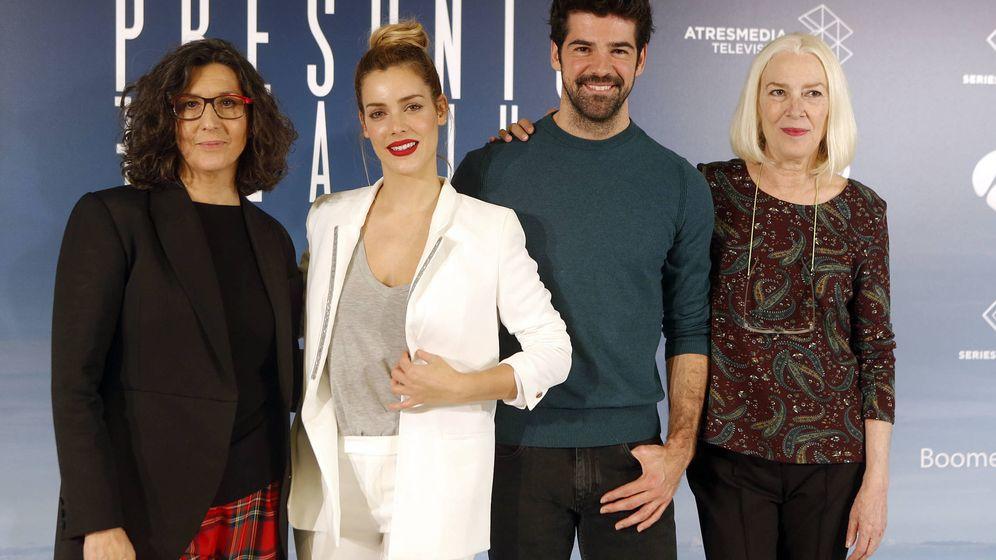 Foto: Los cuatro protagonistas de 'Presunto culpable' en Antena 3. (Gtres)