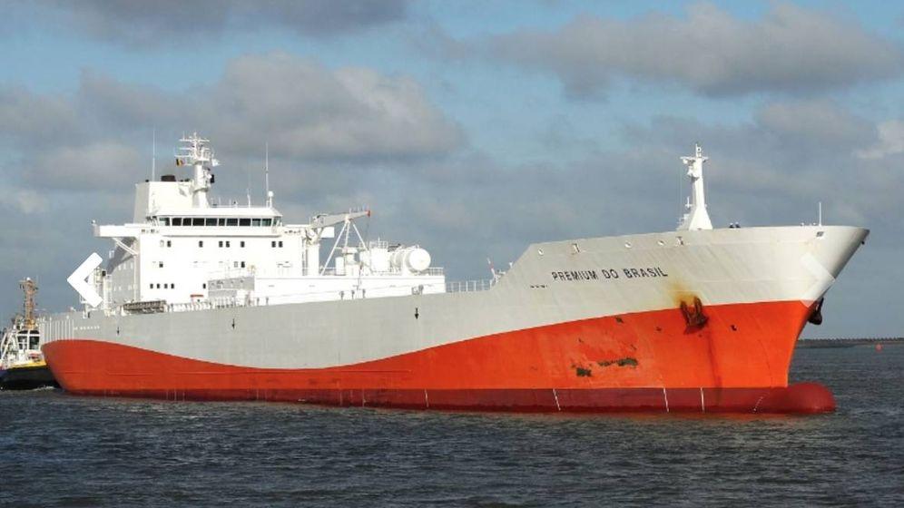 Foto: El barco 'Premium do Brasil', del gigante brasileño Citrosuco, que atracó el lunes en Huelva con zumo para García Carrión. (Vesselfinder)