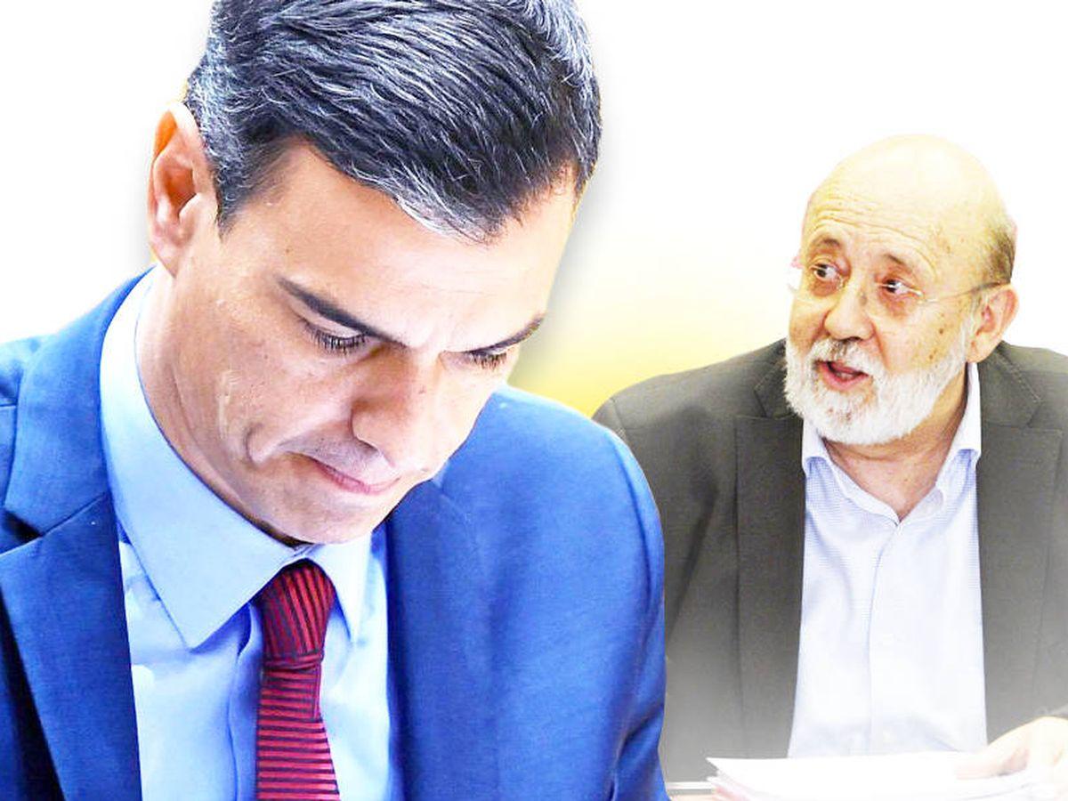 Foto: Pedro Sánchez y José Félix Tezanos. (EFE/EC)