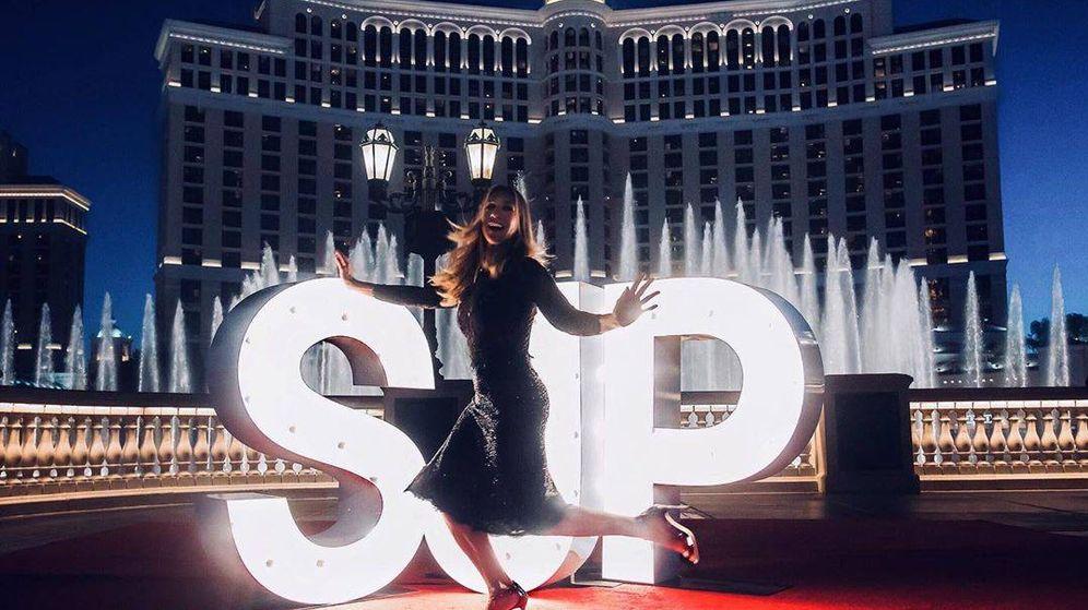 Foto: Sarah Jessica Parker luce sus zapatos en Las Vegas. (Instagram @spjcollection)