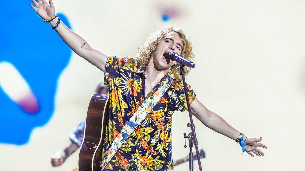 Foto: Manel Navarro en un ensayo en Eurovisión 2017. (TVE)