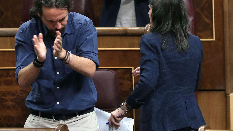 La portavoz de Unidos Podemos en el Congreso, Irene Montero. (EFE)