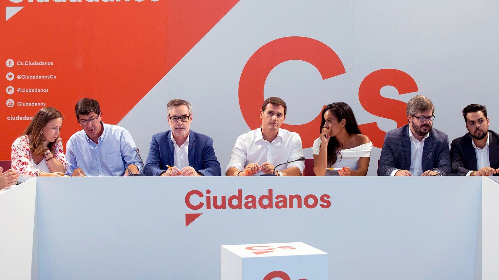 Foto: Albert Rivera, en la reunión del Comité Ejecutivo Nacional de Ciudadanos celebrado en Málaga (Efe).