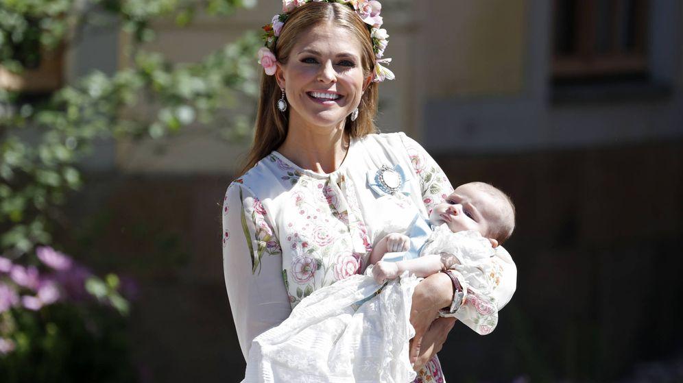 Foto: Magdalena de Suecia en el bautizo de su hija Adrienne el pasado marzo. (Getty)