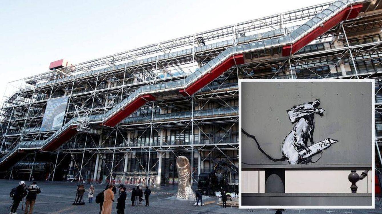 Roban un grafiti de Banksy en memoria de mayo del 68 frente al Pompidou de París