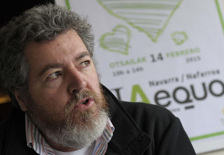Juantxo López de Uralde, colíder de Equo, el pasado febrero en Pamplona. (EFE)