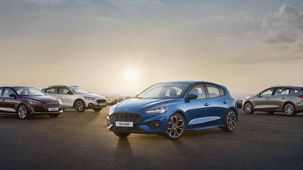 Foto: El Nuevo Focus de cinco puertas junto al Sportbreak, el Active y el Vignale, una gama completa.