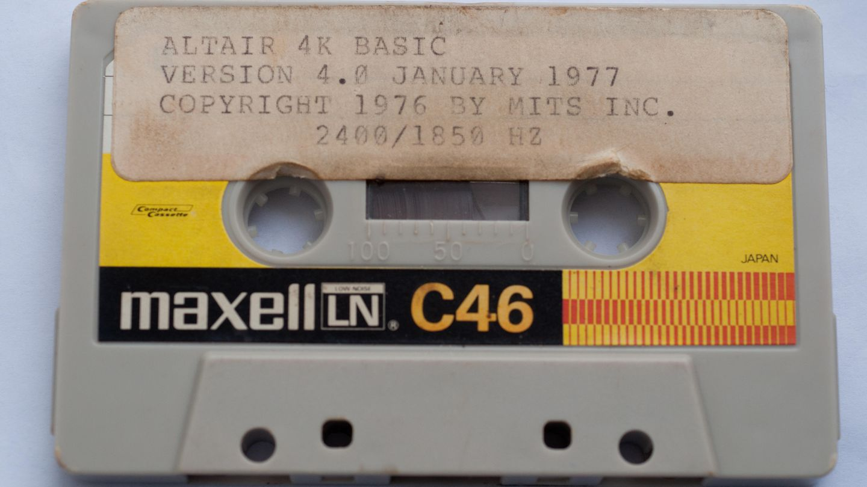 Cinta original en la que se grabó la cuarta versión de Basic