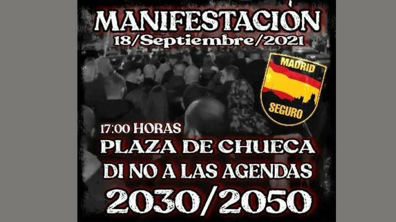 Convocatoria de la manifestación en Chueca.