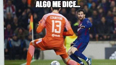 Courtois, Morata y el VAR, protagonistas de los memes del Atlético - Real Madrid