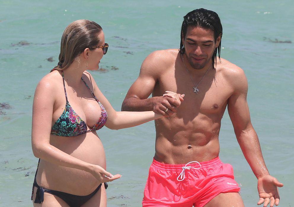 Foto: Falcao y su mujer el pasado mes de junio en Miamo (I.C.)