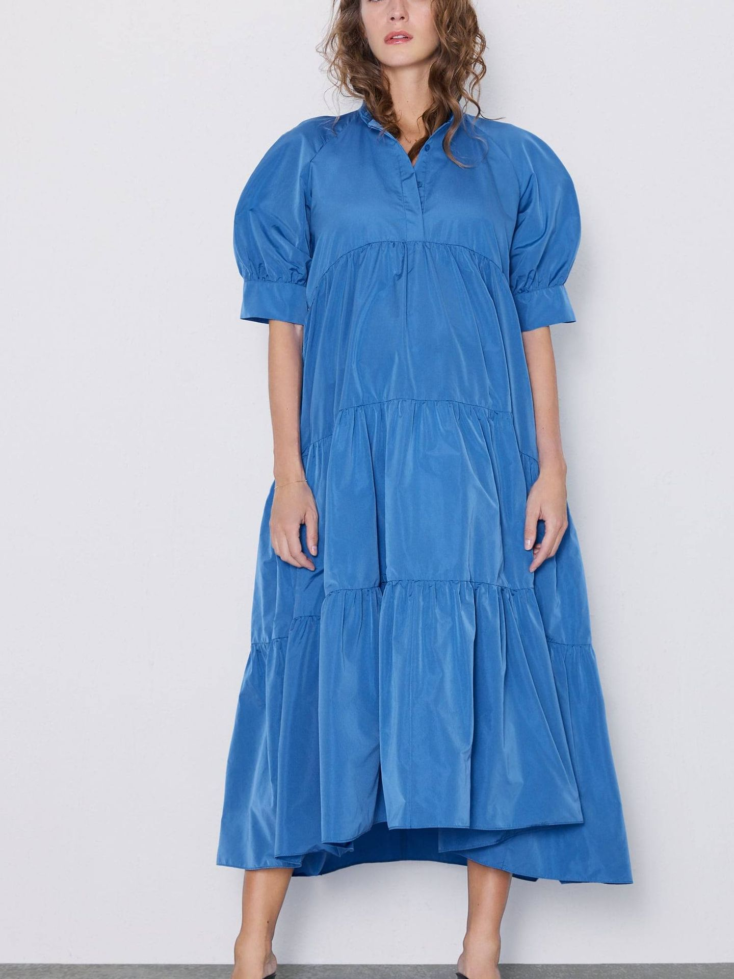 Vestido azul. (Cortesía)