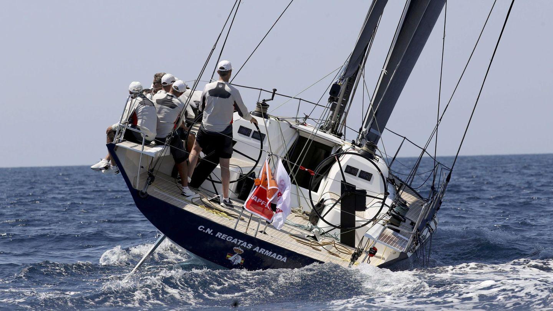 Don Felipe en las regatas de 2018. (EFE)