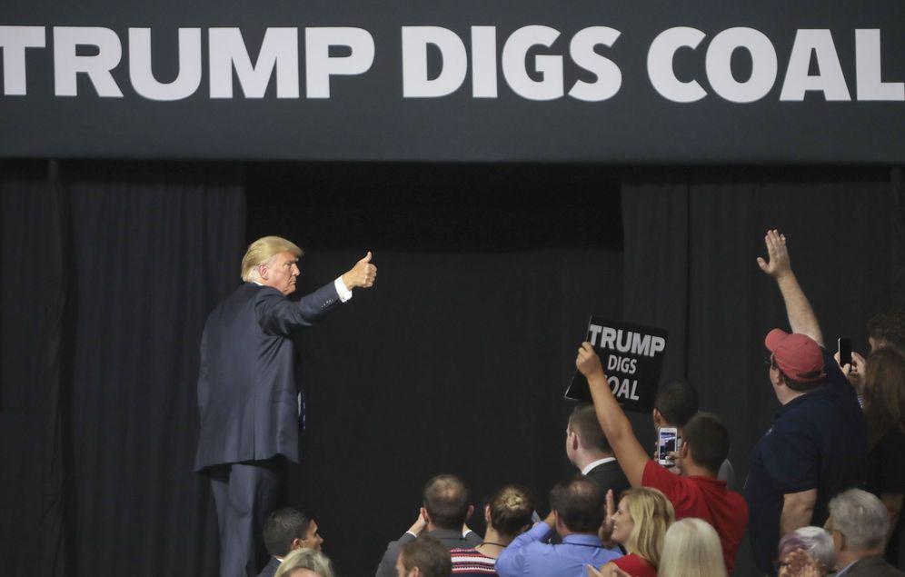 Foto: El presidente de Estados Unidos, Donald J. Trump, en un acto en el Centro Cívico de Charleston. (EFE)