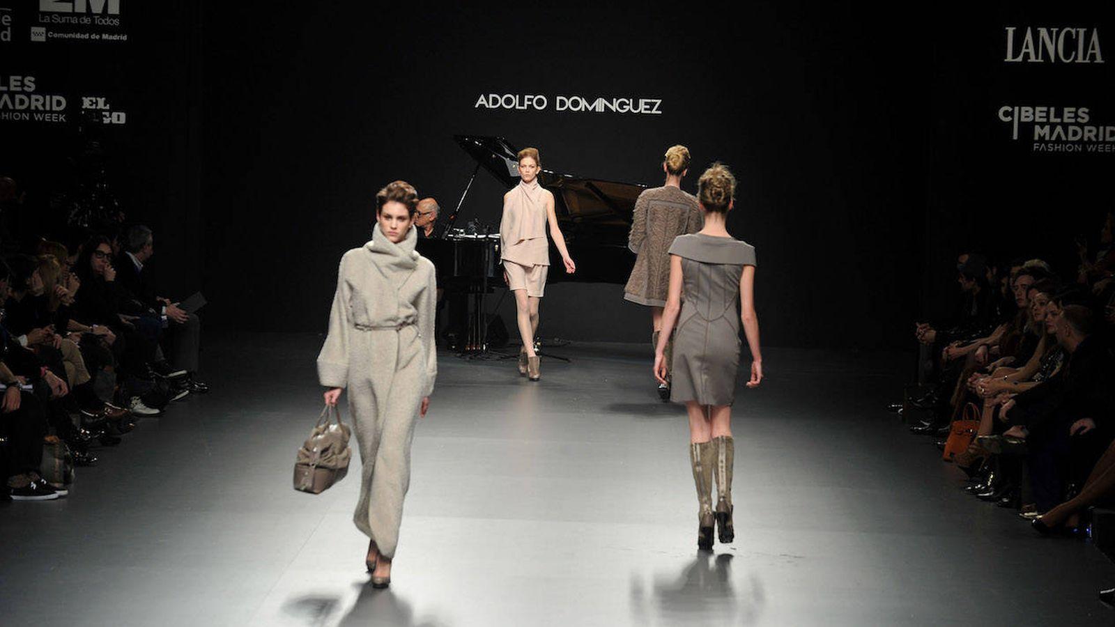 Foto: Desfile de Adolfo Domínguez en la Cibeles Fashion Week (Getty)