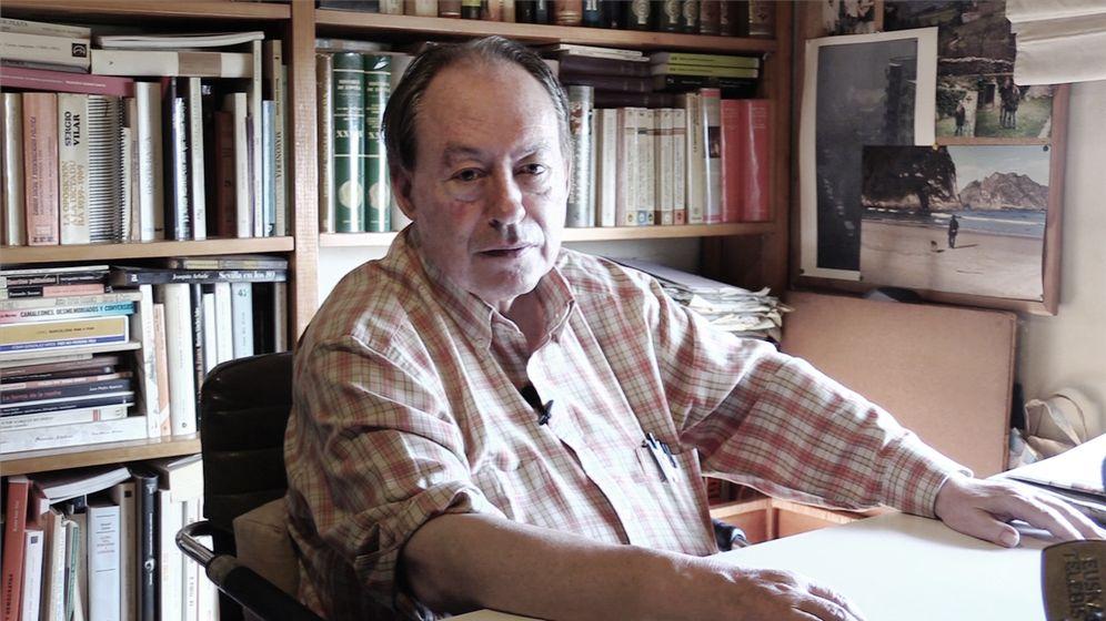 Foto: El periodista asturiano Gregorio Morán. (Enrique Villarino)