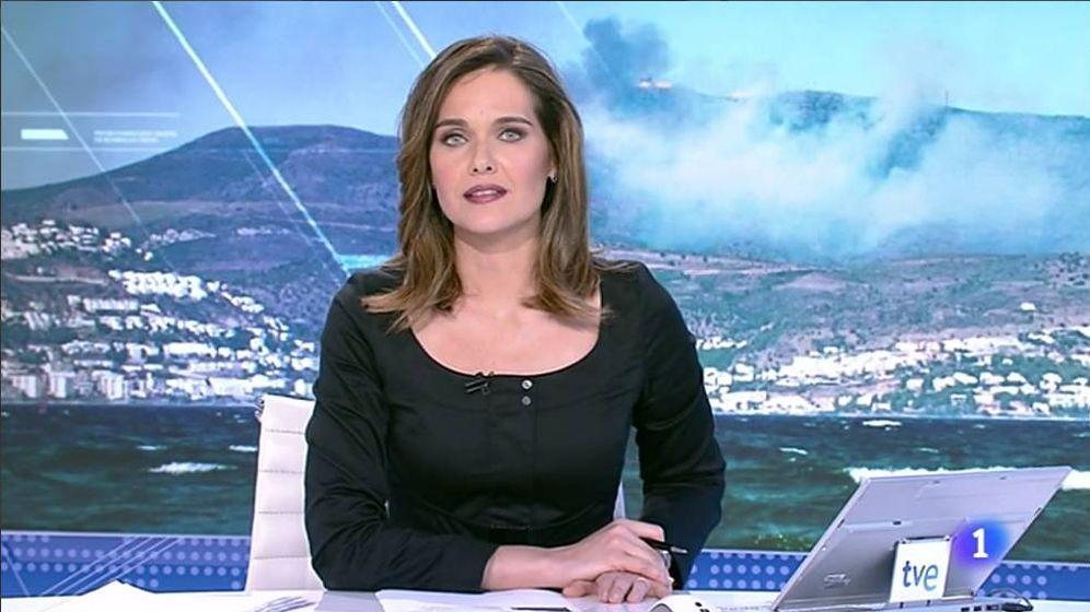 Foto: Raquel Martínez, en 'El Telediario' de TVE