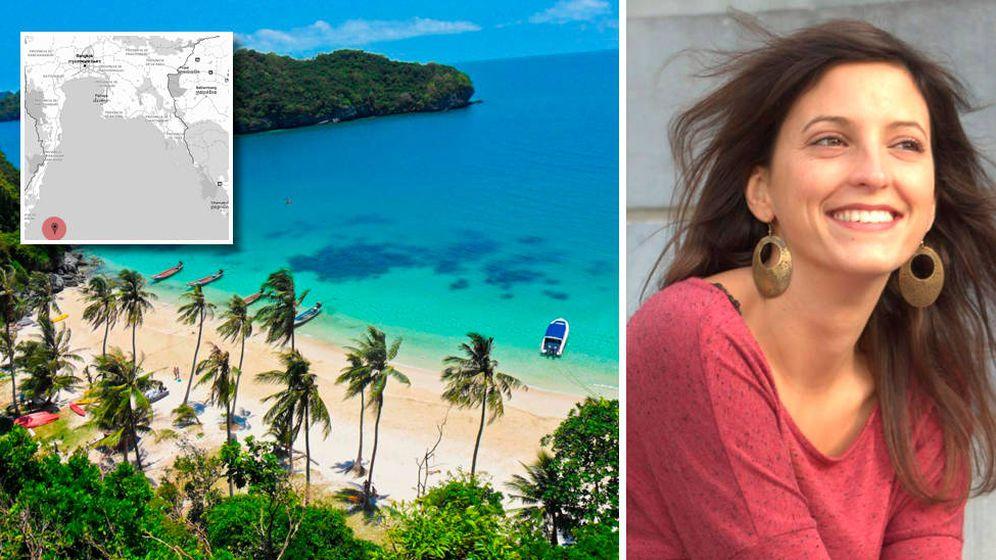 Foto: Imagen de Elise Dallemagne junto a una de las playas de la isla de Koh Tao. (EC)