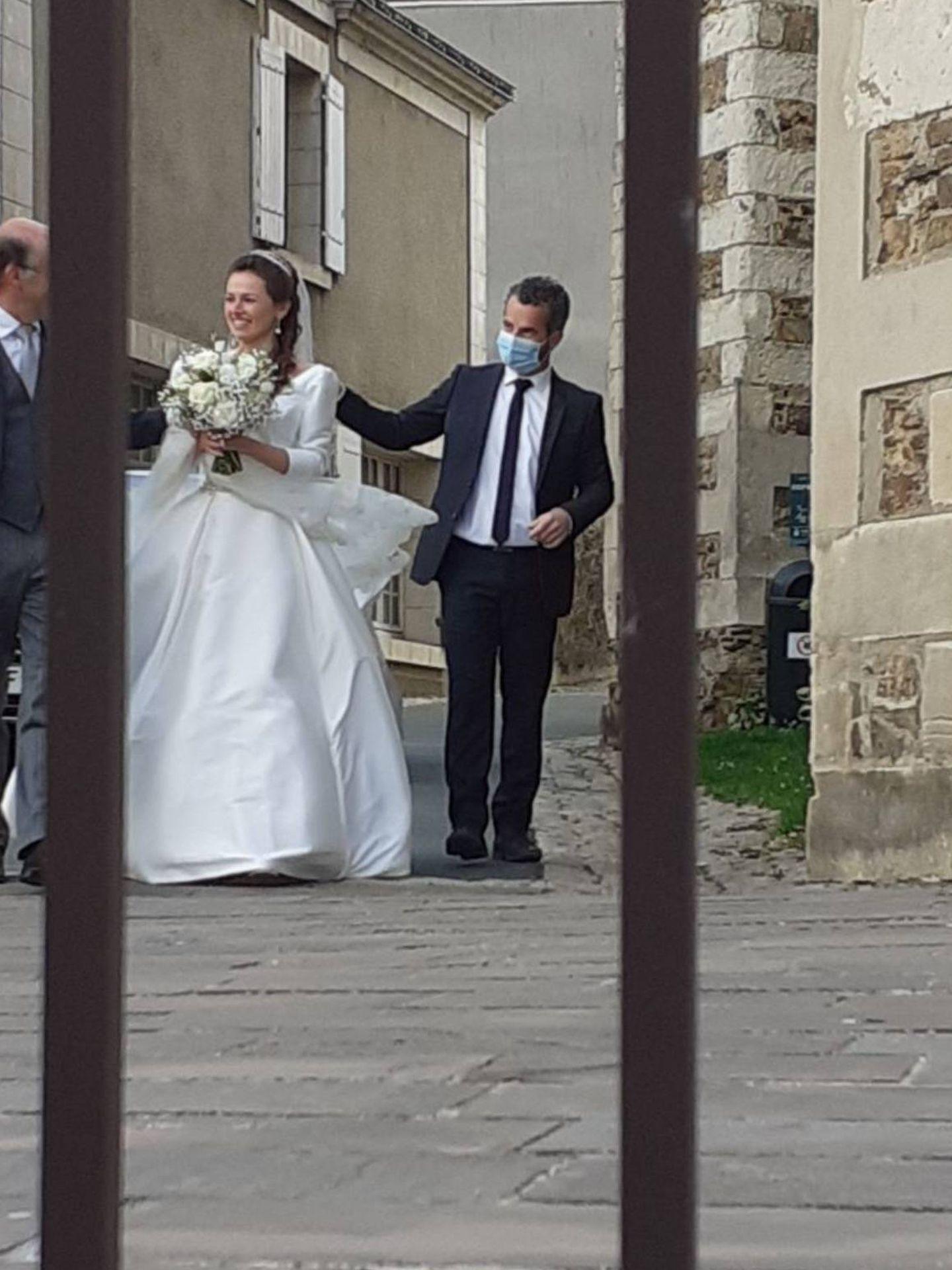 Délia de Cossé-Brissac, en su boda el pasado sábado. (Redes)